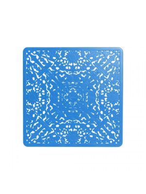 "TAVOLO IN ALLUMINIO ""INDUSTRY COLLECTION"" Cm.70x70 h.71 - BLU"
