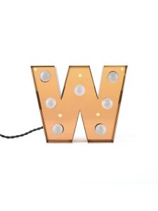 """CARACTÈRE LAMP"" METAL LETTER WITH LED BULB Cm.25,1 h.20 - W"