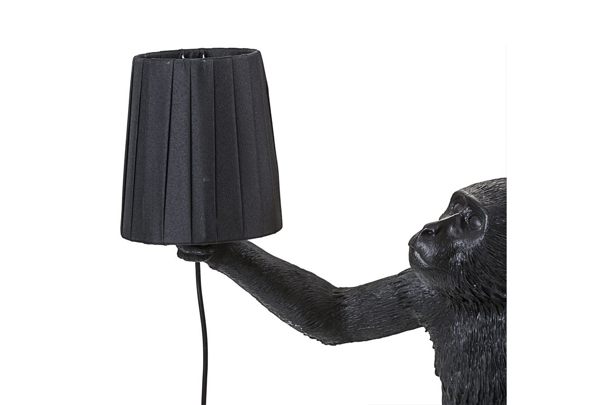 Monkey Lamp Paralume Nero